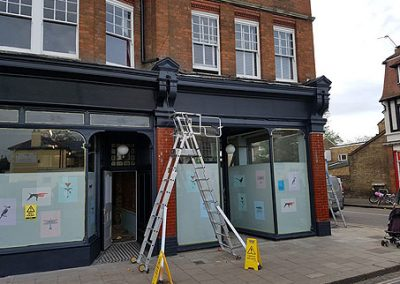 Combining two retail units under 8 flats required our party wall surveyor services