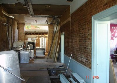Minor demolitions in combining two retail units into one. NJC building consultants acted as party wall surveyor for the project